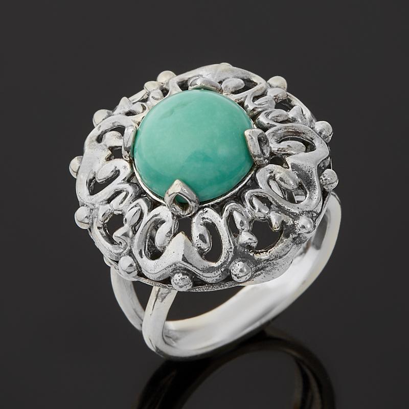 Кольцо бирюза Тибет (серебро 925 пр. оксидир.) размер 17