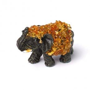 Слон янтарь Россия 5 см