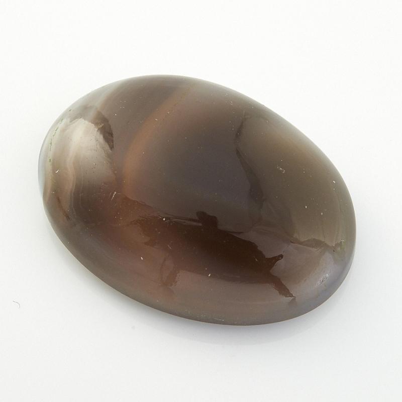 Кабошон агат серый Ботсвана 13*18 мм