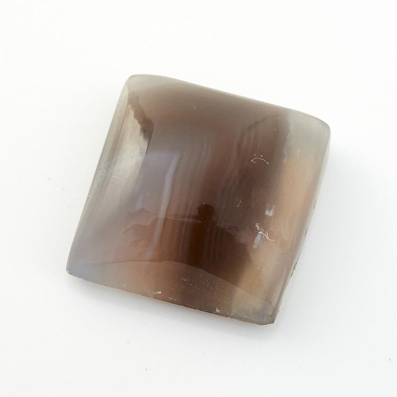 Кабошон агат серый Ботсвана 12*12 мм