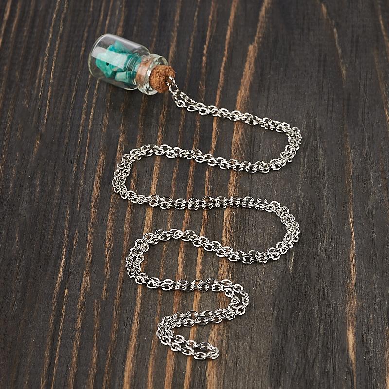 Кулон амазонит Россия (биж. сплав) бутылочка 3,5 см