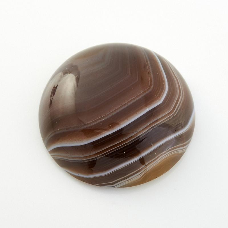 Кабошон агат серый Ботсвана 18 мм