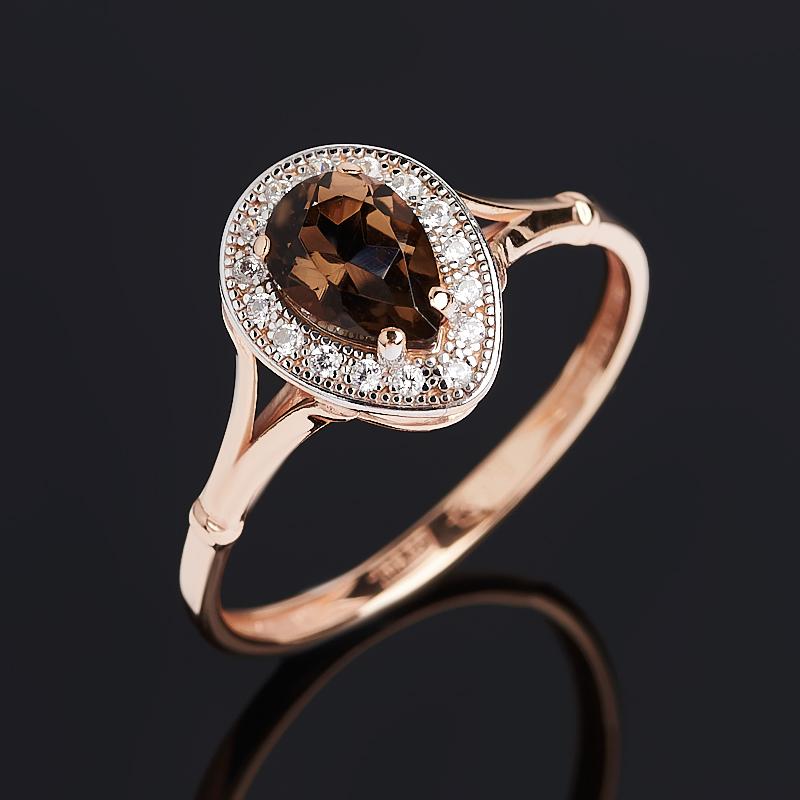 Кольцо раухтопаз (серебро 925 пр. позолота) огранка размер 17 кольцо раухтопаз серебро 925 пр позолота огранка размер 17 5