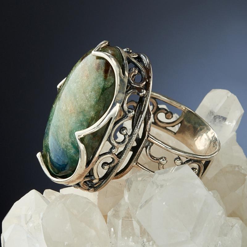 [del] Кольцо авантюрин Россия (серебро 925 пр.)  размер 17,5