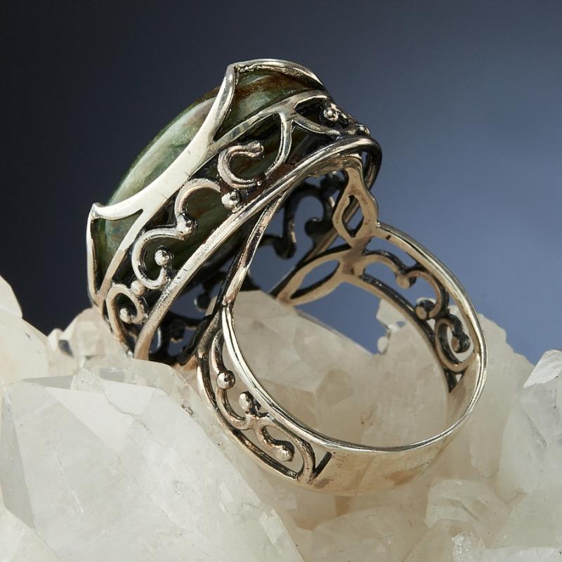 [del] Кольцо авантюрин Россия (серебро 925 пр.)  размер 19