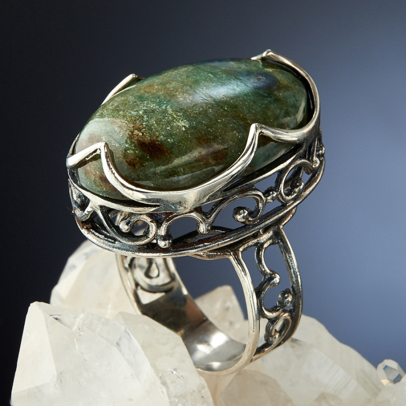 [del] Кольцо авантюрин Россия (серебро 925 пр.)  размер 15,5