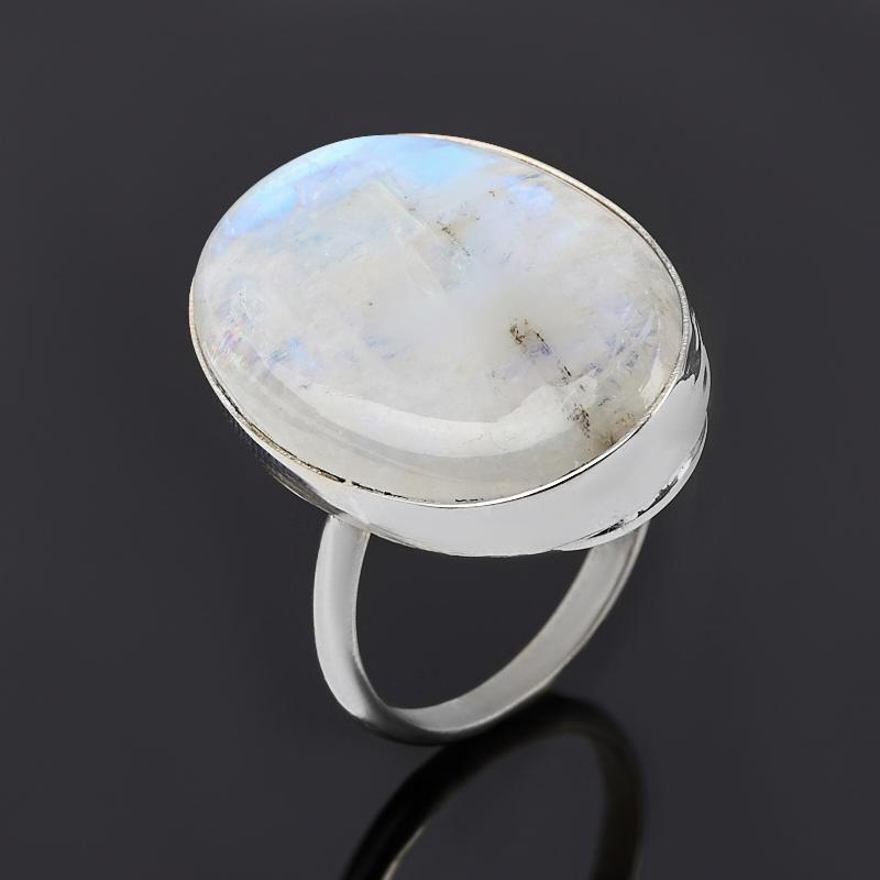 Кольцо лунный камень (адуляр) (нейзильбер) размер 17,5