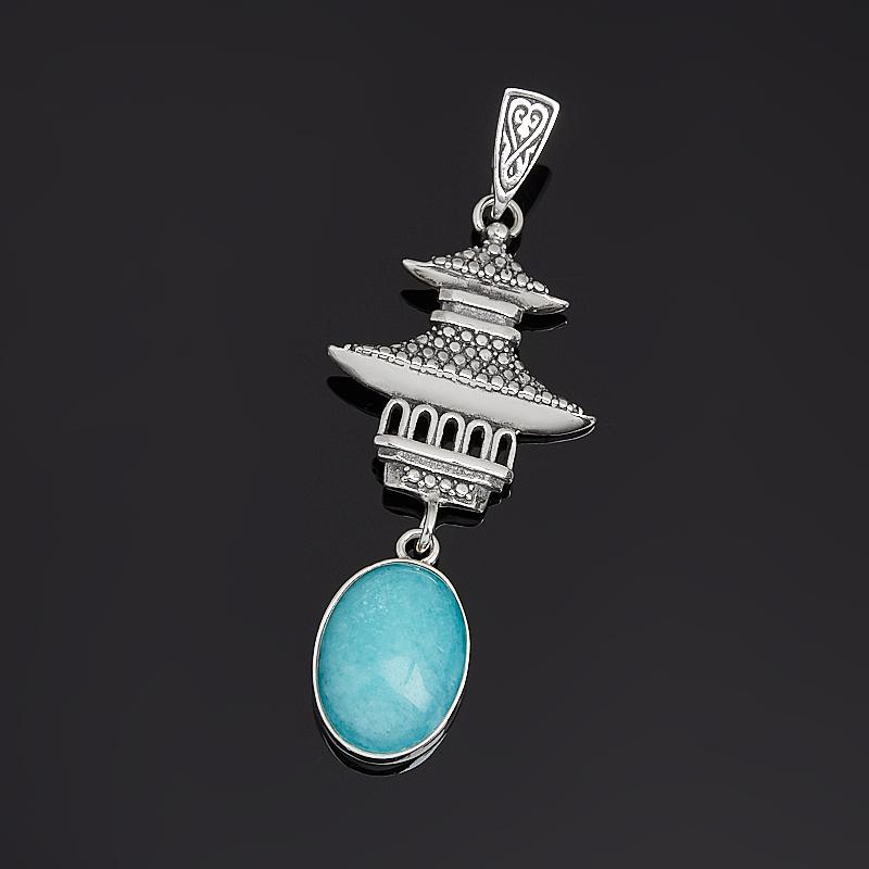 Кулон амазонит Перу (серебро 925 пр. оксидир.)