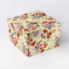 Подарочная упаковка (картон) универсальная (коробка) (микс) 190х190х130 мм