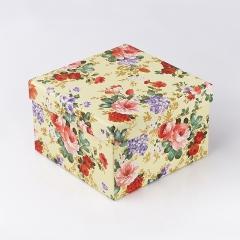 Подарочная упаковка (картон) универсальная (коробка) (микс) 145х145х95 мм