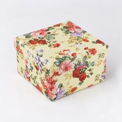 Подарочная упаковка (картон) универсальная (коробка) (микс) 125х125х75 мм