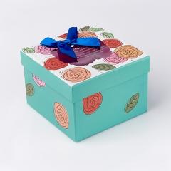 Подарочная упаковка (картон) универсальная (коробка) (микс) 110х110х80 мм