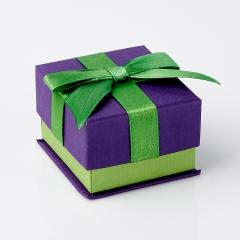 Подарочная упаковка (картон) под кольцо/серьги (коробка) (микс) 55х50х40 мм