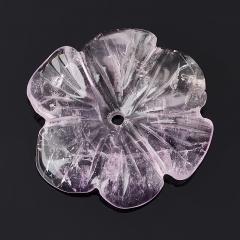 Пуговица цветок аметист Бразилия 3-3,5 см