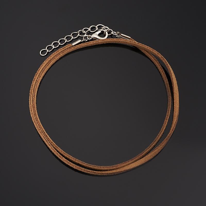 Шнурок (коричневый) 47 см (+4 см) (кожа иск.) шнурок коричневый 46 см 4 см иск кожа