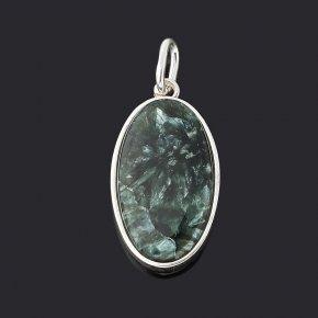Кулон клинохлор (серафинит) Россия (серебро 925 пр.) овал