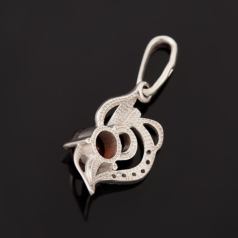 Кулон гранат альмандин Индия (серебро 925 пр. родир. бел.) огранка