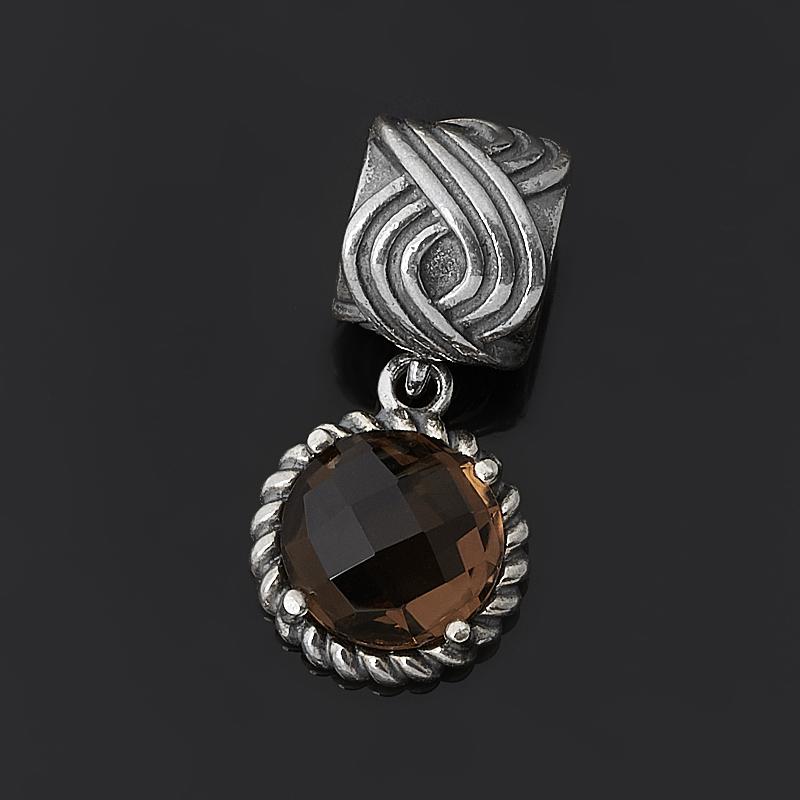 Кулон раухтопаз (серебро 925 пр. оксидир.) огранка