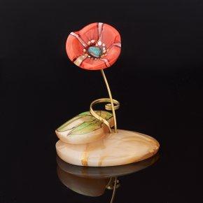 Цветок на подставке селенит Россия 8,5 см