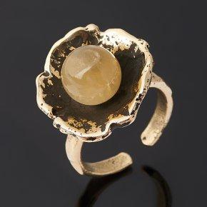 Кольцо селенит Россия (бронза) (регулируемый) размер 18