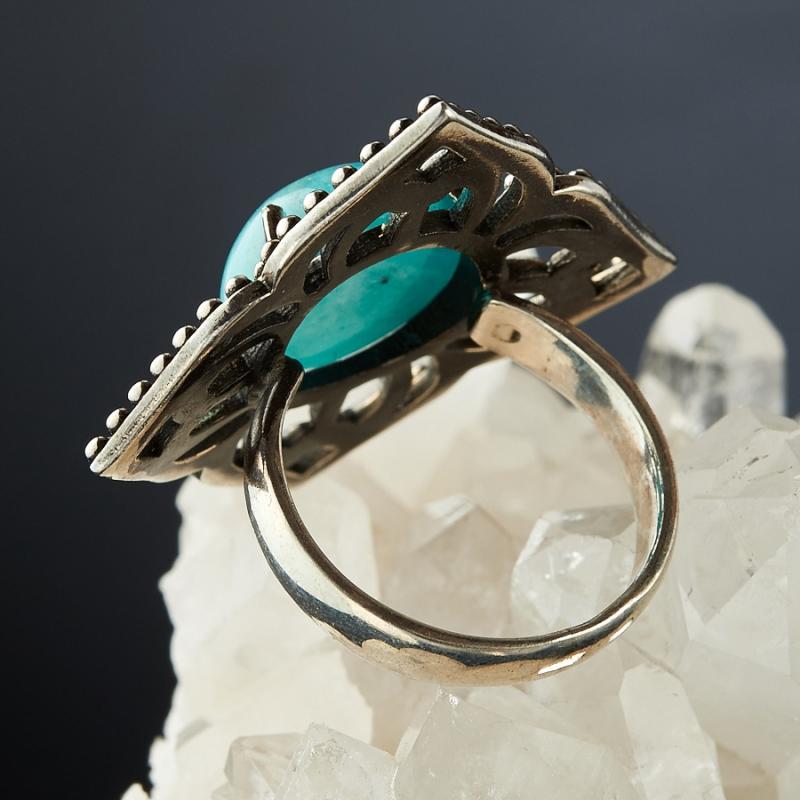 [del] Кольцо амазонит Перу (серебро 925 пр.)  размер 16