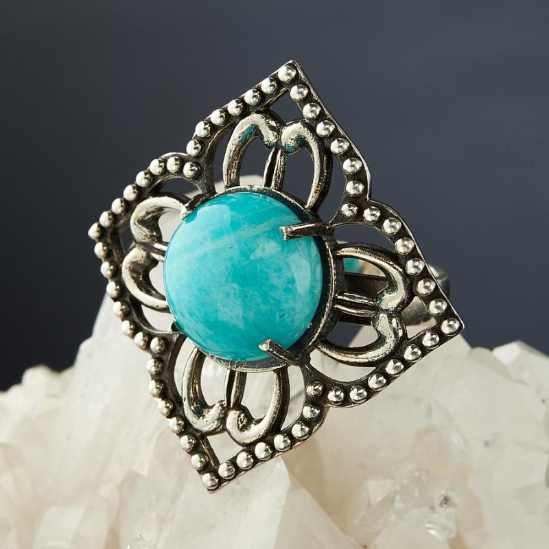 [del] Кольцо амазонит Перу (серебро 925 пр.)  размер 16,5