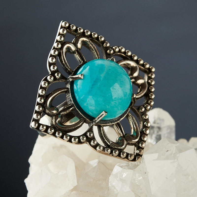 [del] Кольцо амазонит Перу (серебро 925 пр.)  размер 19,5