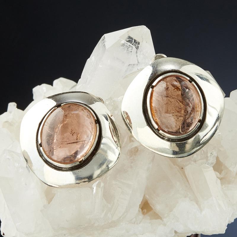 Серьги турмалин  (серебро 925 пр.)