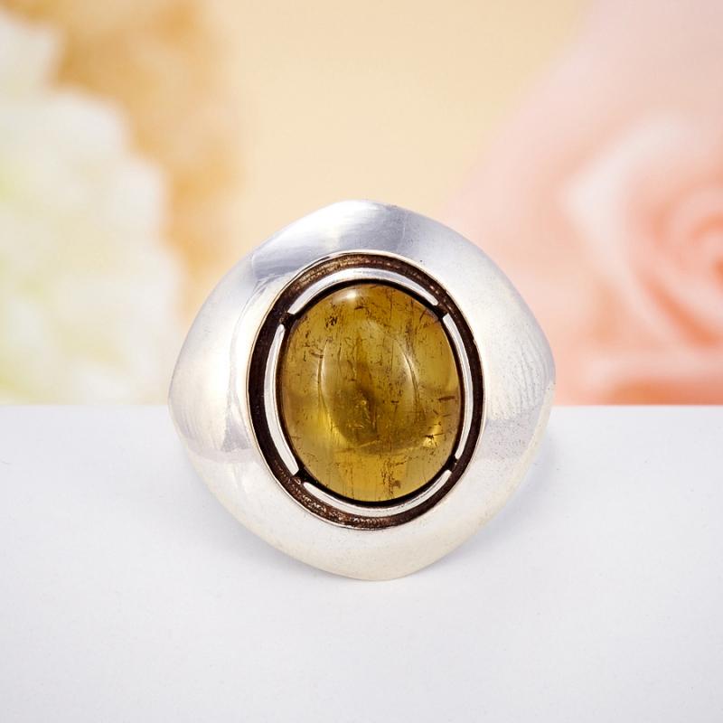 Кольцо турмалин  (серебро 925 пр.)  размер 18