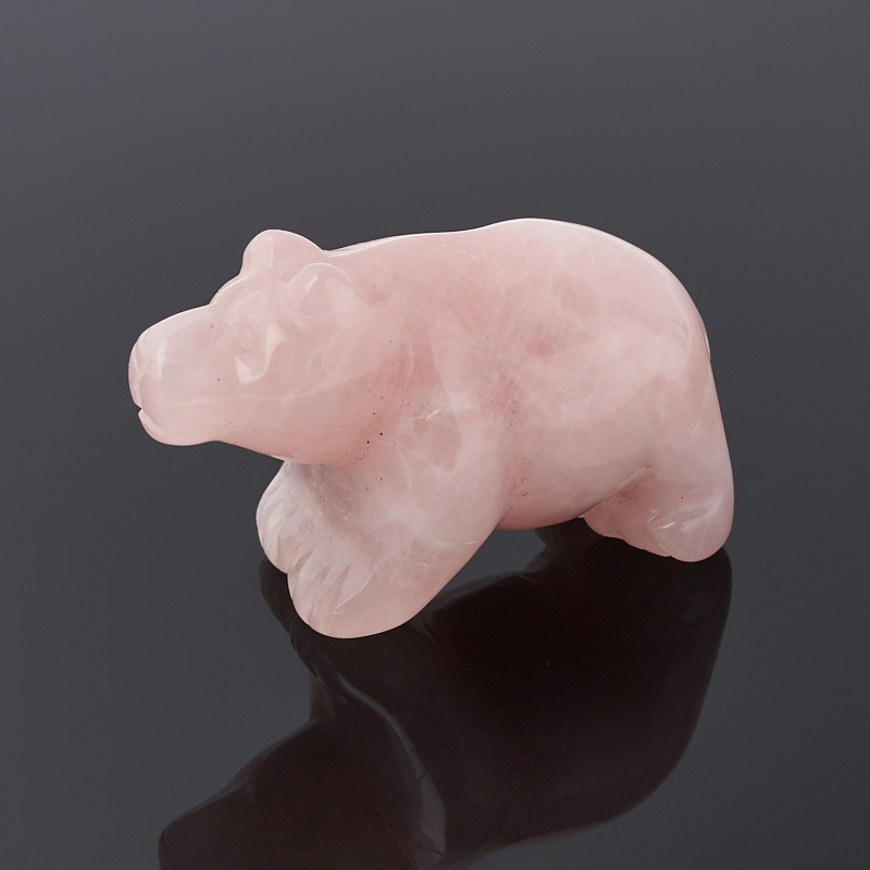 Медведь розовый кварц 5 см