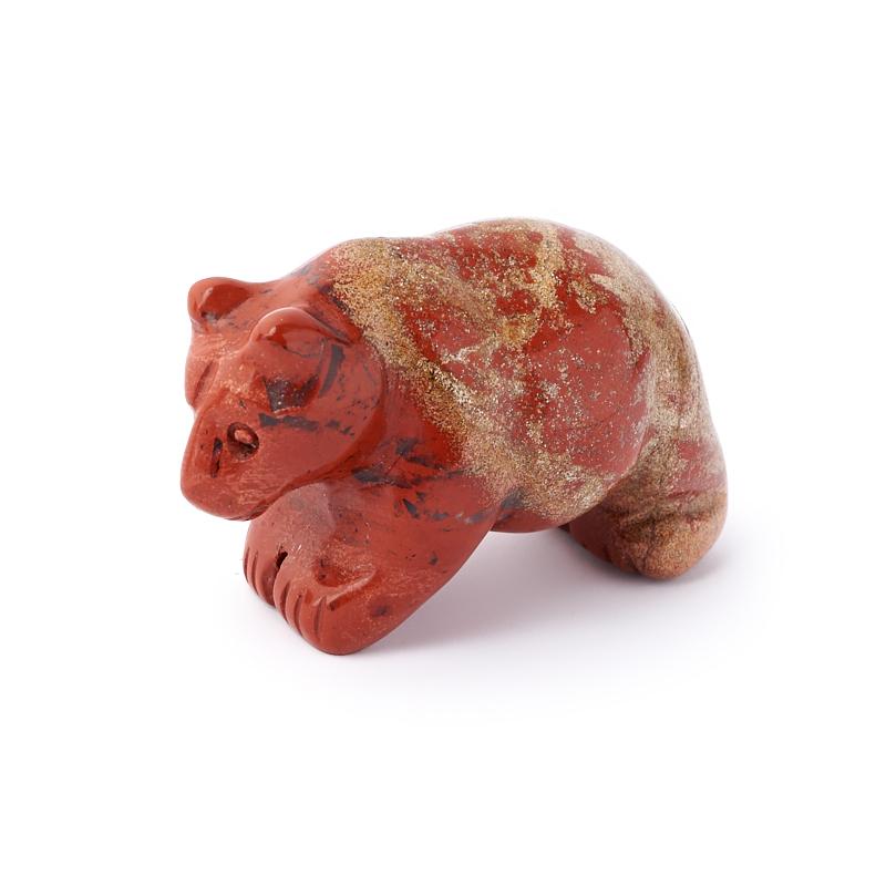 Медведь яшма красная 5 см
