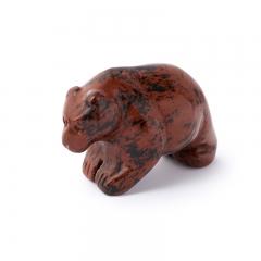 Медведь обсидиан коричневый Армения 5 см