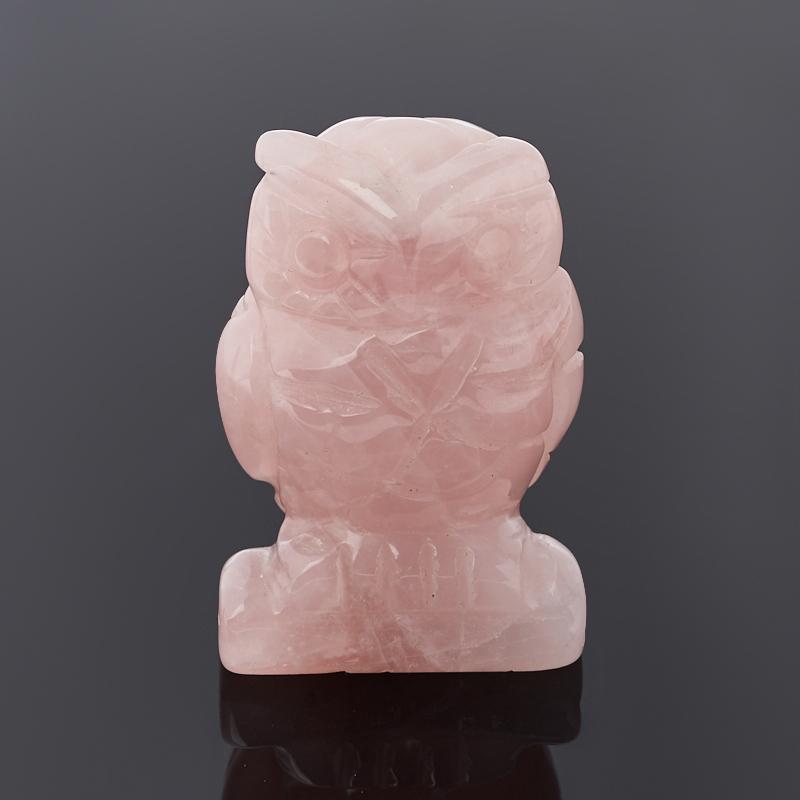 Сова розовый кварц 5 см