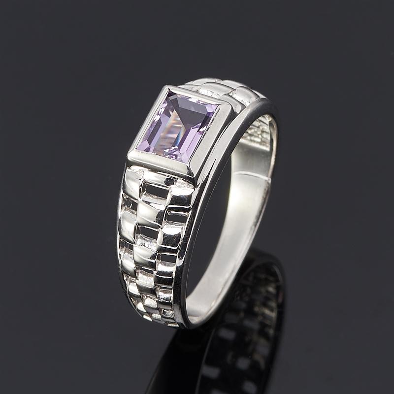 Кольцо аметист (серебро 925 пр. родир. бел.) огранка размер 21