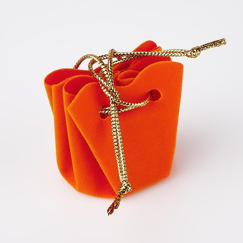 Подарочная упаковка (текстиль) универсальная (мешочек объемный) (оранжевый)  45х40х35 мм