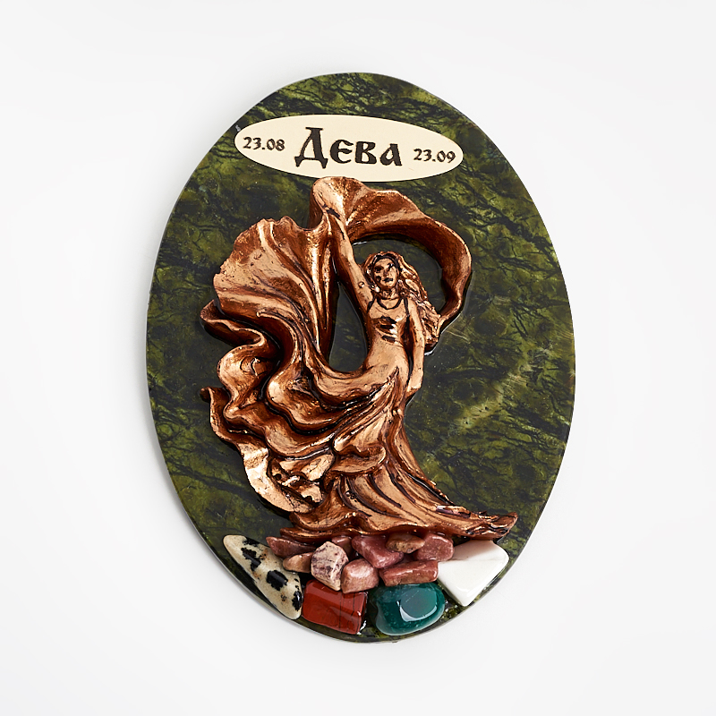 Магнит змеевик Дева 9 см панно veronese дева мария гваделупская 15 5 23 1 см бронза