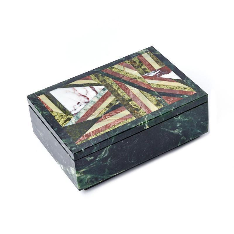 цена на Шкатулка змеевик 16х11х6 см