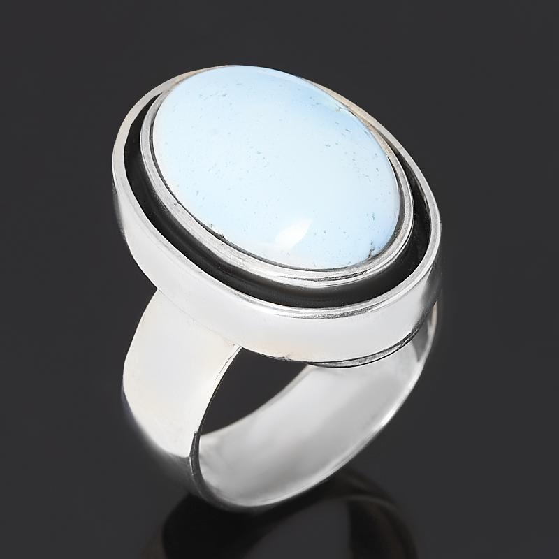 Кольцо бирюза Казахстан (серебро 925 пр. оксидир.) размер 17,5