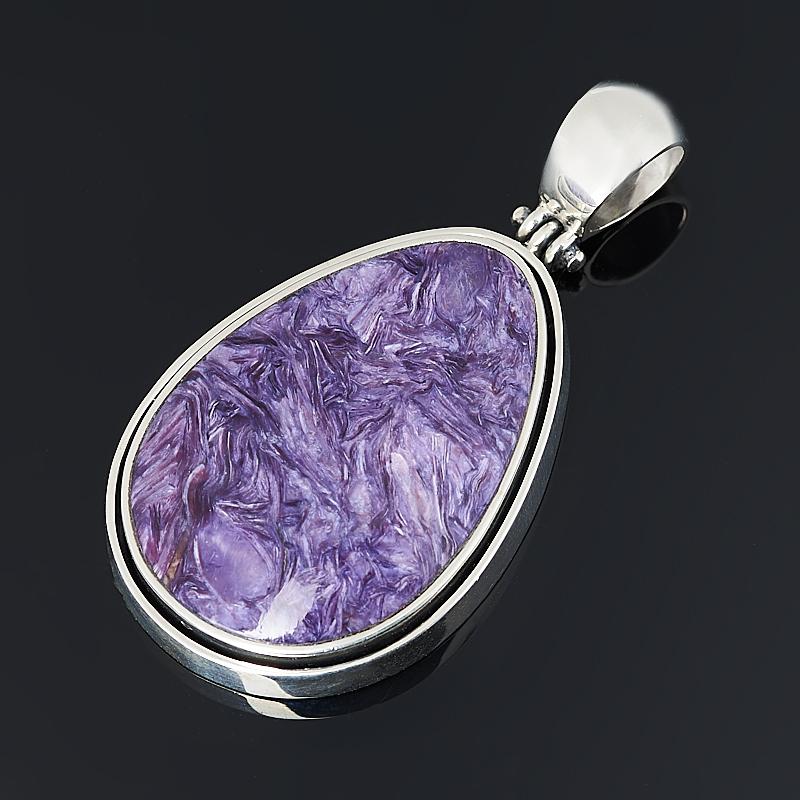 Кулон чароит (серебро 925 пр. оксидир.) кольцо чароит серебро 925 пр оксидир размер 18