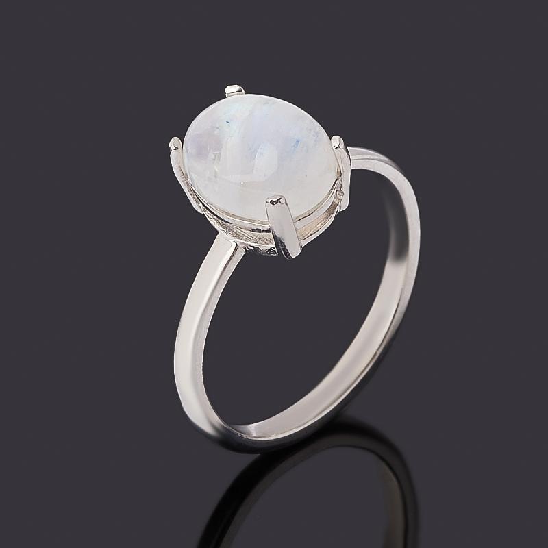 Кольцо лунный камень (адуляр) (серебро 925 пр. родир. бел.) размер 16,5 фото