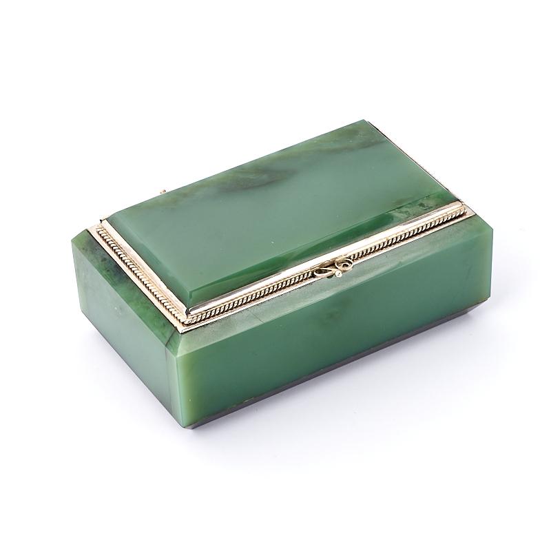 Шкатулка нефрит зеленый (мельхиор) 9,5х5,5х4 см шкатулка нефрит зеленый мельхиор 9 5х5 5х4 см