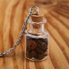Кулон бычий глаз ЮАР (биж. сплав) бутылочка
