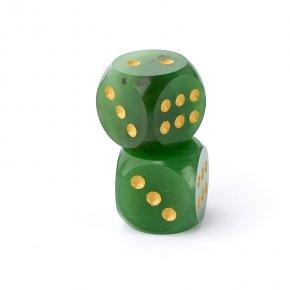 Кости игральные нефрит зеленый Россия