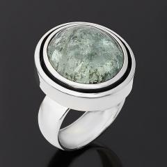 Кольцо берилл Россия (серебро 925 пр. оксидир.) размер 17,5
