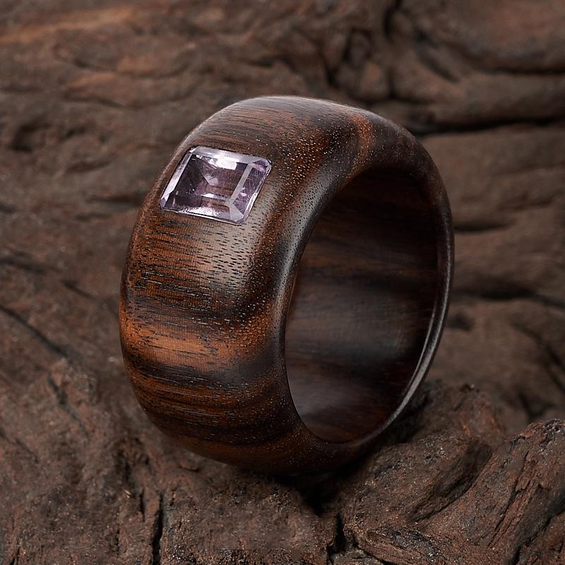 Кольцо аметист (дерево) огранка размер 18