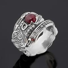 Кольцо гранат альмандин Индия (серебро 925 пр. оксидир.) (регулируемый) размер 17