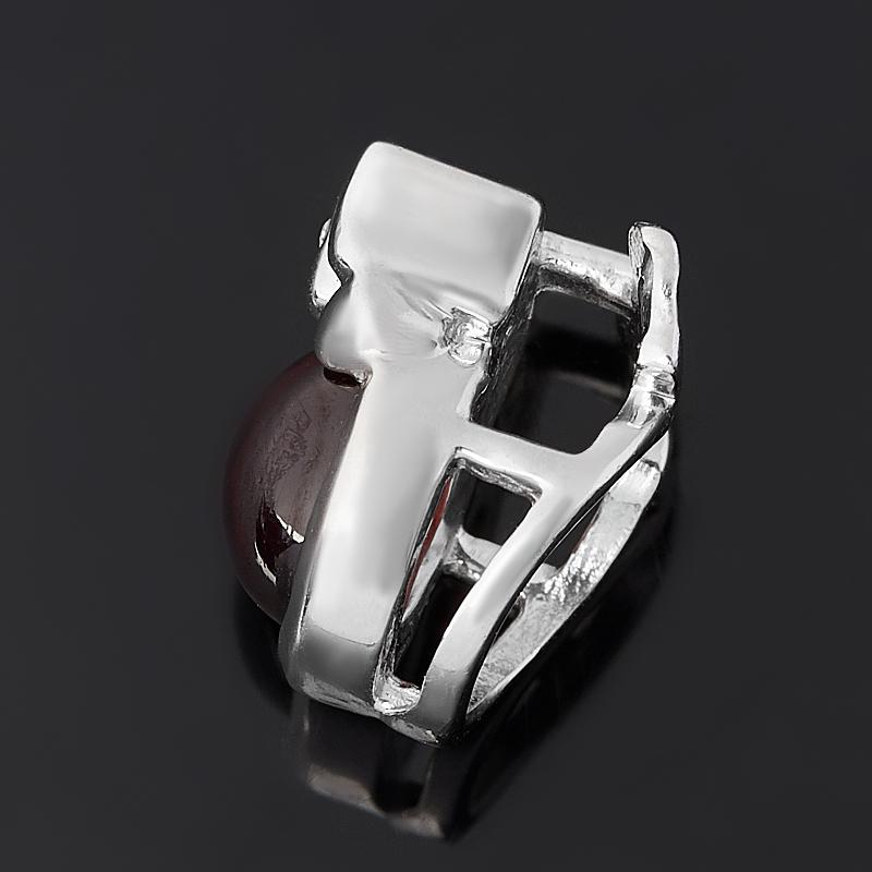 Кулон гранат альмандин Индия (серебро 925 пр. родир. бел.)