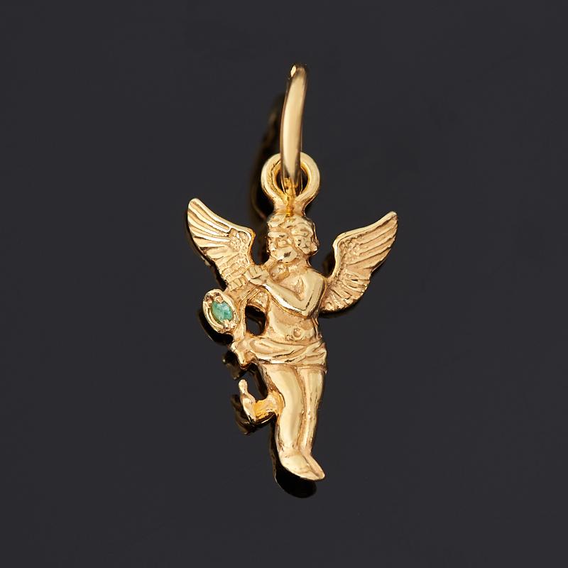 Кулон изумруд огранка (серебро 925 пр. позолота) кулон бриллиант бабочка огранка серебро 925 пр позолота