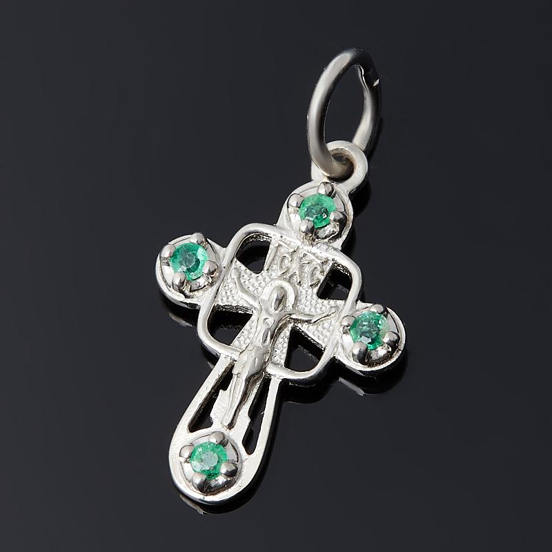 Кулон изумруд (серебро 925 пр.) крест огранка кулон изумруд овал огранка серебро 925 пр
