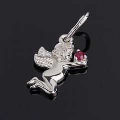 Кулон рубин Мьянма Ангел-хранитель огранка (серебро 925 пр.)